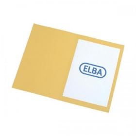 Elba Foolscap Square Cut Folder Recycled Mediumweight 285gsm Manilla Yellow Ref 100090223 Pack of 100