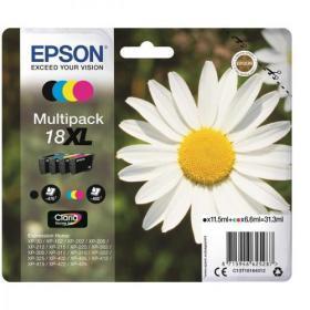 Epson 18XL Inkjet Carts Daisy High Yield Black 11.5ml Cyan/Magenta/Yellow 6.6ml Ref C13T18164012 Pack of 4