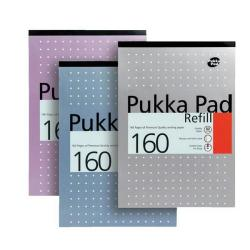 Cheap Stationery Supply of Pukka Pad Refill Pad Headbound 80gsm Ruled Margin Punched 4 Holes 160pp A4 Assorted REF80/1 Pack of 6 Office Statationery