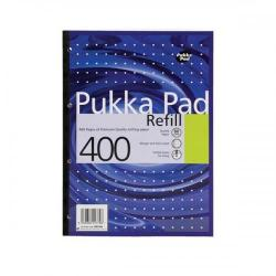 Cheap Stationery Supply of Pukka Pad Refill Pad Sidebound 80gsm Ruled Margin Punched 4 Holes 400pp A4 Assorted REF400 Pack of 5 Office Statationery