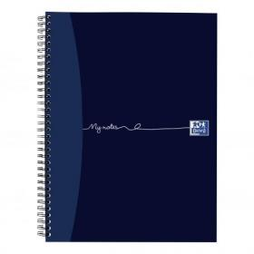 Oxford MyNotes Notebook Wirebound 90gsm Ruled Margin Perf Punched 4 Holes 200pp A4 Ref 100082373 Pack of 3
