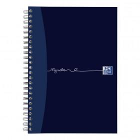 Oxford MyNotes Notebook Wirebound 90gsm Ruled Margin Perf Punched 2 Holes 200pp A5 Ref 100082372 Pack of 3