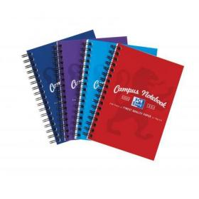 Oxford Campus Notebook Wirebound 90gsm Ruled Perforated 140pp A6 Assorted Ref 400013923 Pack of 10
