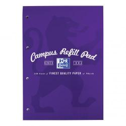 Cheap Stationery Supply of Oxford Campus Refill Pad Hbd 90gsm Ruled Margin Punched 4 Holes 140pp A4 Assorted 400013925 Pack of 5 Office Statationery