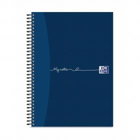 Oxford MyNotes Notebook Wirebound 90gsm Ruled Margin Perf Punched 4 Holes 100pp A4 Ref 400020193 Pack of 5