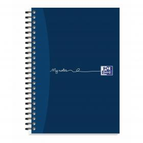 Oxford MyNotes Notebook Wirebound 90gsm Ruled Margin Perf Punched 2 Holes 100pp A5 Ref 400020197 Pack of 5