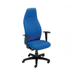 Cheap Stationery Supply of Adroit Posture Fabric High Back Chair (Blue Upholstery with Black Plastic Frame) with Adjustable Arms 101142 Office Statationery