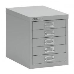 Cheap Stationery Supply of Bisley SoHo Multidrawers 5-Drawer 51mm Drawer Height (Goose Grey) H125NL-av4 Office Statationery