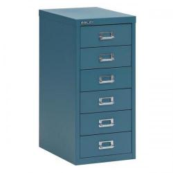 Cheap Stationery Supply of Bisley SoHo (H590mm) Multi-Drawer (6) Steel Filing Cabinet (Doulton Blue) 101231 Office Statationery