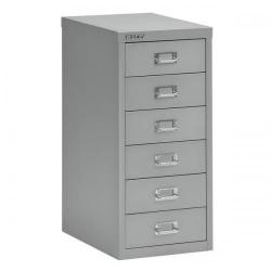 Cheap Stationery Supply of Bisley SoHo (H590mm) Multi-Drawer (6) Steel Filing Cabinet (Silver) 101234 Office Statationery
