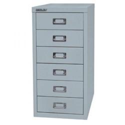 Cheap Stationery Supply of Bisley SoHo (H590mm) Multi-Drawer (6) Steel Filing Cabinet (Grey) H296NL-av4 Office Statationery