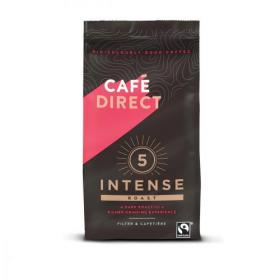 Cafe Direct Intense Roast Fairtrade Roast and Ground Coffee 227g Ref FCR0003