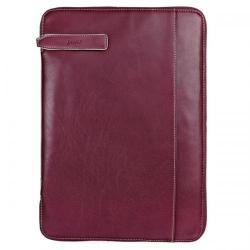 Cheap Stationery Supply of Filofax Holborn (A4) Leather Zipped Folio (Wine) 827347 Office Statationery
