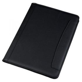 5 Star Office Conference Folder Leather Look A4 Black