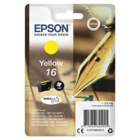 Epson 16 Inkjet Cartridge Pen & Crossword Page Life 165pp 3.3ml Yellow Ref C13T16244012