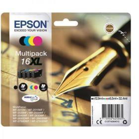 Epson 16XL InkjetCart Pen&Crossword HY Page Life 500pp Black 450pp C/M/Y 32.4ml Ref C13T16364012 Pack of 4