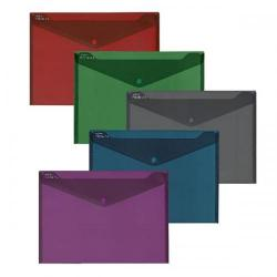 Cheap Stationery Supply of Fusion Poly File (A4) Assorted Colours (Pack of 5) 15643 Office Statationery