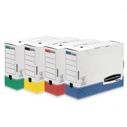 Cheap Stationery Supply of Bankers Box by Fellowes (A4) 100mm Transfer File (Assorted Colours) - 1 x Pack of 12 Transfer Files 0039101 Office Statationery