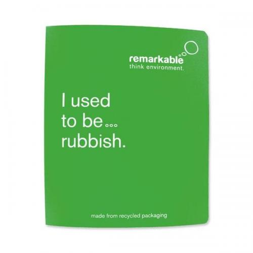 Remarkable (A4) Recycled Packaging Ring Binder (Green 7401