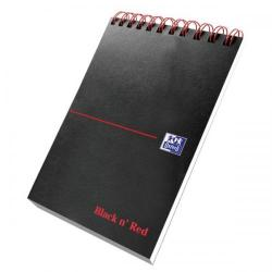 Cheap Stationery Supply of Black n Red (125 x 200mm)140 Pages Ruled Wirebound Reporters Notebook (Pack of 5) 400028336 Office Statationery