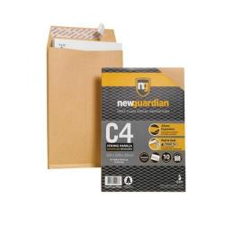 Cheap Stationery Supply of New Guardian (C4) Retail Pack of Premium Strong Gusset Envelopes (Manilla) Pack of 10 R10003 Office Statationery