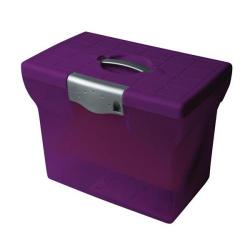 Cheap Stationery Supply of Pierre Henry (A4) Freestyle Plastic File Box (Purple) for Storage of up to 20 Suspension Files 40143 Office Statationery