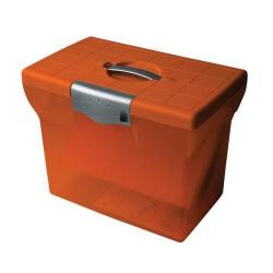 Cheap Stationery Supply of Pierre Henry (A4) Freestyle Plastic File Box (Orange) for Storage of up to 20 Suspension Files 40077 Office Statationery