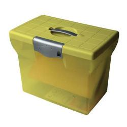 Cheap Stationery Supply of Pierre Henry (A4) Freestyle Plastic File Box (Lime Green) for Storage of up to 20 Suspension Files 40071 Office Statationery