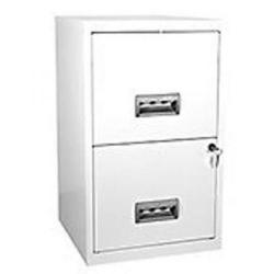 Cheap Stationery Supply of Pierre Henry (A4) Filing Cabinet Lockable 2-Drawer Steel (White) 95793 Office Statationery