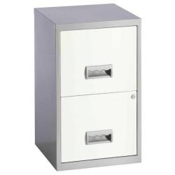 Cheap Stationery Supply of Pierre Henry (A4) Filing Cabinet Lockable 2-Drawer Steel (Silver/White) 95799 Office Statationery
