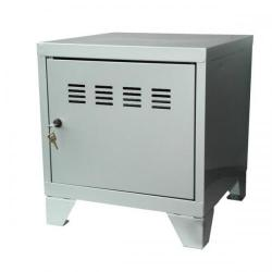 Cheap Stationery Supply of Pierre Henry Small Locker Cabinet With Feet Metal (Silver) 95768 Office Statationery