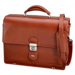 Cheap Stationery Supply of Juscha Alassio Mocca Briefcase Leather (Cognac) 47124 Office Statationery