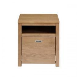 Cheap Stationery Supply of Adroit Home Office Oak 1 Drawer (+Open Shelf) Freestanding Filer Pedestal  W520 x D525 x H580mm (Oak) OBURFILE Office Statationery
