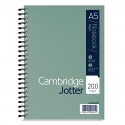 Cheap Stationery Supply of Cambridge Jotter Notebook Wirebound 80gsm Ruled Margin and Perforated 200pp A5 400039063 Pack of 3 Office Statationery