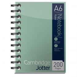 Cheap Stationery Supply of Cambridge (A6) Metallic 200 Pages 80gsm Wirebound Ruled Perforated Card Cover Notebook (Green) 400039064 Office Statationery