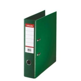 Esselte FSC No. 1 Power Lever Arch File PP Slotted 75mm Spine A4 Green Ref 811360 Pack of 10