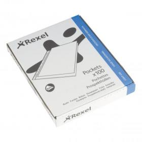 Rexel Superfine Pocket Multipunched Polypropylene Top-opening 43 Micron A4 Clear Ref 11040 Pack of 100