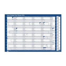 Cheap Stationery Supply of Sasco 2016 Unmounted Compact Year Planner Landscape 2401738 Office Statationery