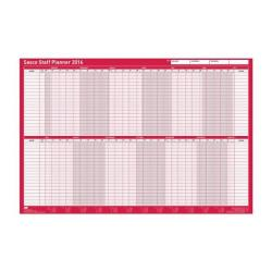 Cheap Stationery Supply of Sasco 2016 Unmounted Staff Planner Landscape 2401747 Office Statationery