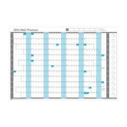 Cheap Stationery Supply of Sasco 2016 Mounted Wall Planner 2401758 Office Statationery