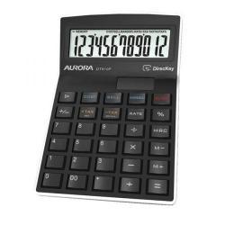 Cheap Stationery Supply of Aurora Semi-desk Calculator 12 Digit 3 Key Memory Battery/Solar Power 95x33x140mm Black DT910PX Office Statationery