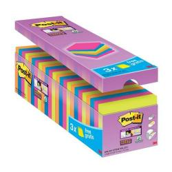 Cheap Stationery Supply of Post-it Super Sticky Notes Value Pack Pad 90 Sheets 76x76mm Assorted 654-SS-VP24COL-EU Pack of 24 Office Statationery