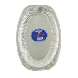 Cheap Stationery Supply of Robinson Young Caterpack Food Platter Foil Oval 430mm RY03891 Pack of 3 Office Statationery