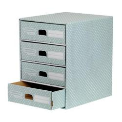 Cheap Stationery Supply of Bankers Box by Fellowes (A4) 4 Drawer Unit (Green/White) 4481701 Office Statationery