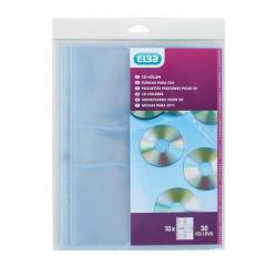 Cheap Stationery Supply of Oxford CD/DVD Punched Pockets 200 Micron Glass Clear 100206995 Pack of 10 Office Statationery
