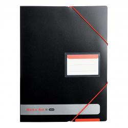 Cheap Stationery Supply of Black n Red by Elba Display Book Polypropylene 20 Pockets Elastic Straps A4 Opaque 400050725 Office Statationery