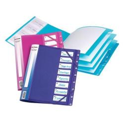 Cheap Stationery Supply of Snopake Filelastic (A4) Elasticated Box File with 8 Segments (Electra Assorted Colours) Pack of 5 Files 14965 Office Statationery