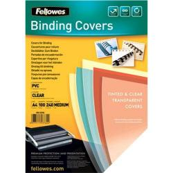 Cheap Stationery Supply of Fellowes Binding Covers 240gsm A4 Clear 53762 Pack of 100 Office Statationery