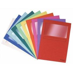 Cheap Stationery Supply of Exacompta Forever Window File Folder Assorted (100 Pack) 50100E Office Statationery