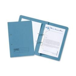 Cheap Stationery Supply of Guildhall Transfer Spring File 420gsm Front Pocket Foolscap Blue 211/6000Z Pack of 25 Office Statationery